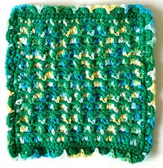 Framed Puff Stitch Crochet Dishcloth – Maggie Weldon Maggies Crochet