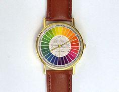 Vintage Color Wheel Watch Ladies Watch Men's by 10northcreative