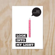 #Valentijkaart. #Valentine Candle Card, look into my light.