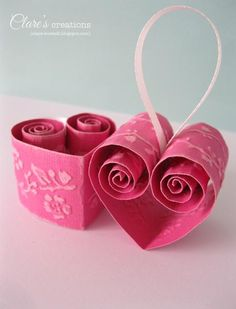 Quilled Valentine's Day Heart Decorations, Clare Buswell