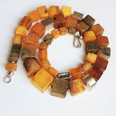 Gifts For Him : Baltic Amber Necklace Genuine Amber Not Modified Amber Gift for H Coral Jewelry, Fall Jewelry, Jewelry Art, Jewlery, Chunky Jewelry, Ethnic Jewelry, Glass Bead Game, Headpiece Jewelry, Baltic Amber Necklace
