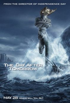 The Day After Tomorrow (2004) Jack Hall, paleoclimatologist for NORAD, must make a daring trek across America to reach his son, trapped in the cross-hairs of a sudden international storm which plunges the planet into a new Ice Age.  #movie