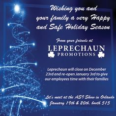 Happy Holidays from Leprechaun Promotions