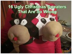 16 Christmas Sweaters That Are Not Just Ugly But Wrong    ---  from InventorSpot.com --- for the coolest new products and wackiest inventions.