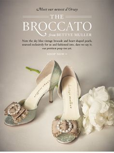 Meet our newest d'Orsay: The Broccato from Bettye Muller