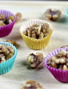 Maple Glazed Walnuts Recipe in the slow cooker. So simple and delicious as a snack or in salads.