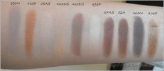 Inglot Neutral eye shadow swatches