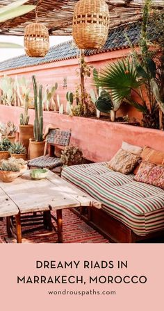 COCOON terrace outdoor living inspiration exterior design Marrakech Morocco lounge villa design hotel design wellness design luxury design products for easy living.