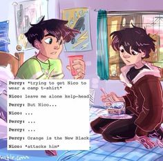 I thought it was a humanstuck John and Karkat at first XD