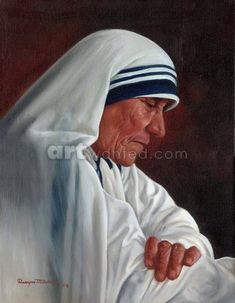 Mother Teresa by Dwayne Mitchell on ArtWanted.com