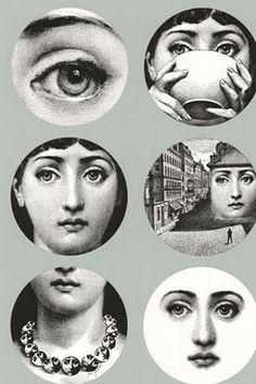 Tema A Variazioni Lina Cavalieri By Piero Fornasetti Wallpaper