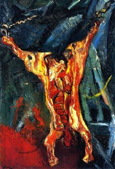 Carcass of Beef (Chaim Soutine - circa 1924)I read about this artist and why he painted the way he did, it was interesting, definetly something to look up.