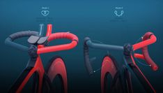An adjustable handle bar design that blends all current bicycle solutions into one simple concept. Velo Design, Bicycle Design, Cycling Bikes, Layout, Handle, Behance, Image, Products, Racing Bike