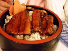 Unagi donburi (Eel on rice )