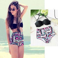 Sexy! -https://www.cooliyo.com/product/93262/pushup-padded-bra-high-waisted-bikini-bathing-swimwear/