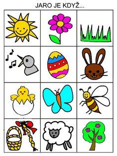 Jarní pexeso Free Preschool, Preschool Activities, Diy For Kids, Crafts For Kids, Pictogram, Paper Toys, Easy Drawings, Kindergarten, Doodles