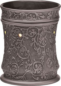 Silvervine Full-Size Scentsy Warmer PREMIUM  Silvervine recalls the days of hand-forged metalwork, featuring an ornate, botanical motif on a subtle pattern of tiny beads.  CLICK ON PIN FOR WEBSITE