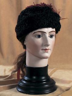 Cherries Jubilee : 195 Very Rare French Bisque Head for Milliner by Bru