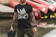 DNB Drum and Bass Wear by MAS STREETWEAR. Instagram: mas_wear Fathers Day Gifts, Gifts For Dad, Graffiti, Cycling T Shirts, Streetwear Shop, Gorgeous Fabrics, Heather Black, Casual Elegance, Cotton Tee