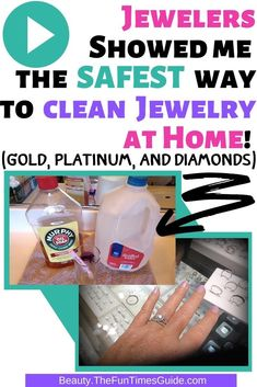 How To Clean Your Jewelry At Home - I hate taking my rings to jewelry stores to have them cleaned because they always want to sell you something. Here's how to clean jewelry at home yourself (According to 2 professional jewelers!) Spring Home, Autumn Home, Home Maintenance Schedule, Homemade Jewelry Cleaner, Clean Jewelry, Home Hacks, Jewelry Stores, Helpful Hints, Hate