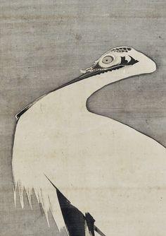 ink on silk. The Met Museum. Japanese Painting, Chinese Painting, Samurai Drawing, Japanese Bird, Japanese Illustration, Animal Decor, Japan Art, Woodblock Print, Ceramic Art