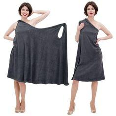 wrap dress only one pattern piece one-piece dress Dress Sewing Patterns, Vintage Sewing Patterns, Clothing Patterns, Diy Clothing, Sewing Clothes, Diy Dress, Wrap Dress, Robe Diy, Convertible Clothing