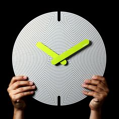 hypnotic neon wall clock!
