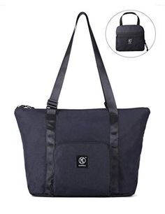 Kah Kee Foldable Travel Duffle Bag Tote Carry on Luggage Packable  Waterproof Anti-Theft Hidden Pocket in Trolley Handle 8dee6ef58a