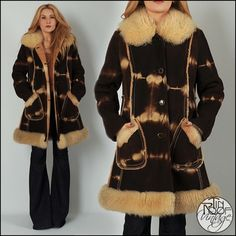 Sheepskin jacket Shearling coat Lamb fur Boho Suede Winter coat