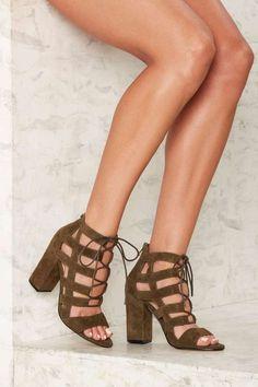 Siren Kaos Suede Heel   Shop Shoes at Nasty Gal!