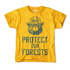 Smokey the Bear Protect Our Forests Kids T-Shirt
