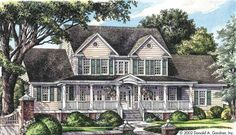 Farmhouse House Plan with 2521 Square Feet and 4 Bedrooms(s) from Dream Home Source | House Plan Code DHSW41880