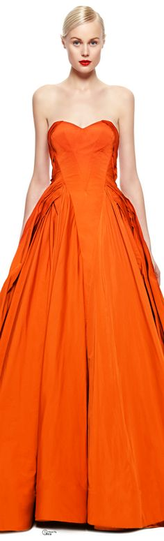 Zac Posen ● FW 2014-15- Of only I could pull of that colour