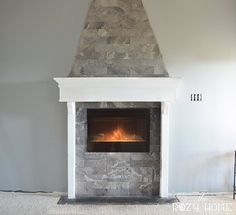 This homeowner started out with a hole in the wall from a pass through aquarium and with some thought and work ended up with a beautiful master bedroom fireplace.