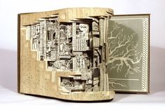 """In """"Webster Two Point Oh"""" (2008), Dettmer connects two dictionaries to expose a new architecture to the books, creating """"random poetry.""""  Image courtesy of the artist and Kinz + Tillou Fine Art."""