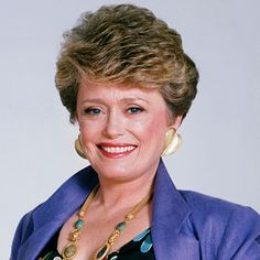 Rue McClanahan (Feb 1934 - Jun 2010 (age Vivian Harmon in Maude, Fran Crowley on Mama's Family, and Blanche Devereaux on The Golden Girls, Golden Girls, Classic Actresses, Actors & Actresses, Blanche Devereaux, Rue Mcclanahan, Celebrities Before And After, Brave Women, Loose Hairstyles, Celebrity Look