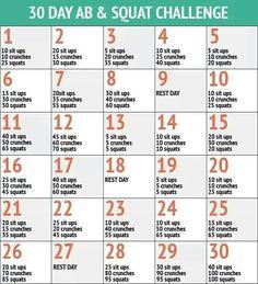 Squat/sit up/crunch challenge. .!!