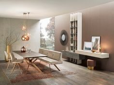 #Anrei #AnreiAuszugstisch #AnreiTisch #AnreiTische - Tisch Vivo Dining Room Design, Dining Room Table, Kitchen Design, Architectural Floor Plans, Office Desk, Interiores Design, Building A House, Flooring, Living Room