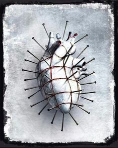 I Give You My Hellbound Heart (drawing by Dominic Harman, inspired by Clive Barker) Hearts And Bones, Gothic Artwork, Gothic Culture, Human Body Parts, Anatomical Heart, Heart Images, Human Heart, My Funny Valentine, Anatomy Art