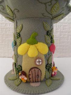 Fairy Avenue Felt Pincushion by ThatPincushionPlace on Etsy, $50.00