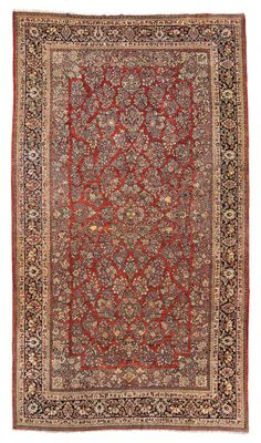 SAROUK CARPET, WEST PERSIA, CIRCA 1920 Dimensions: approx. 610 x 345 cm I   Albahie Auction House
