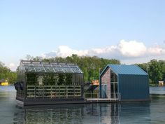 Designed to float down the Danube river in Europe, the Eco Barge is a solar-powered floating greenhouse illustrating the possibilities of offshoring urban food production