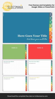 FREE Digital Notebooks with Introduction + 8 sections for Google Slides – Theme Colors Version!  I've included 4 different paper styles: Blank, Dot Grid, Graph Paper and Ruled. Educational Websites, Educational Technology, Education Middle School, Writers Notebook, Technology Tools, Photo Album Scrapbooking, Graph Paper, English Class, Interactive Notebooks