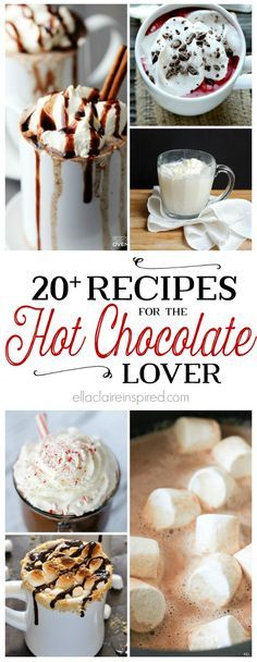 Nothing satisfies that winter sweet tooth like a warm cup of hot chocolate. These 20 decadent recipes will keep you cozy all winter long. Find them here at ellaclaireinspired.com