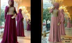 Maxi Dress Anggun Fatimah Brokat+Pashmina  Online - http://www.butikjingga.com/maxi-dress-anggun-fatimah-brokat-pashmina
