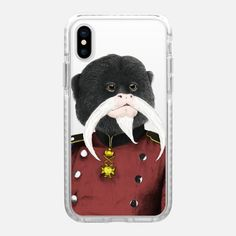 Casetify iPhone X Impact Case - Emperor tamarin clear by Barruf