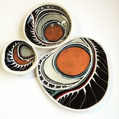 "Penny Evans, "" Design work on my ceramics reference my Kamilaroi/Goomeroi…"