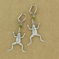 Sadie Green's rhinestone frog earrings