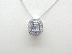 Nice everyday....add some sparkle....diamond halo pendant in 14K white gold.  #scottandco  At Scott & Co. Fine Jewelers we specialize in custom design jewelry serving but not limited to the following areas: Gettysburg, Hanover, New Oxford York, Lancaster, Carlisle, Chambersburg, Harrisburg (all of South Central) PA and Northern MD.  Visit us at the square in New Oxford, at 2 Lincoln Way E, New Oxford, PA 17350 or call us at (717) 624-1444.   http://scottandcofinejewelers.com