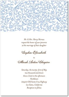 Winery Wedding Invite from Wedding Paper Divas